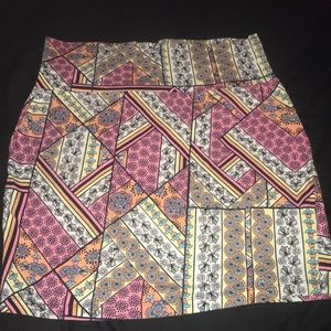 Skirt and patterned